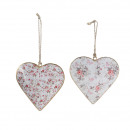 Metal heart romance, for hanging, 2 motives, D10cm